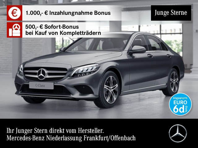 Mercedes-Benz C 200 d Avantgarde LED Kamera PTS Sitzh Temp, Jahr 2019, Diesel