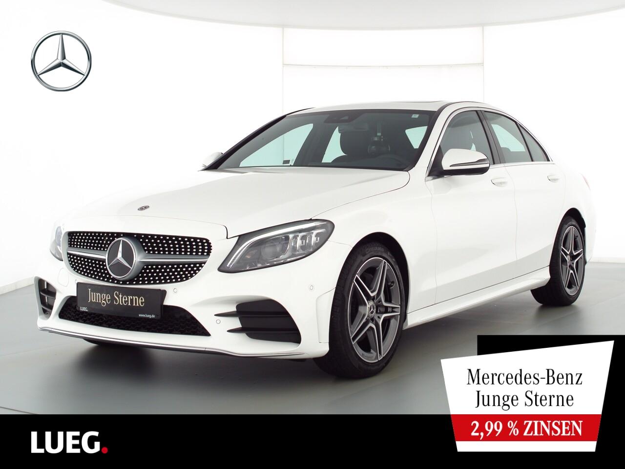 Mercedes-Benz C 180 AMG+COM+SHD+Mbeam+SpurPk+ParkAss+CarPl+RFK, Jahr 2020, Benzin