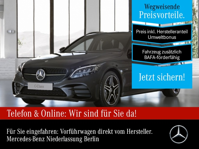 Mercedes-Benz C 300 e T Night Edition AMG Pano LED Kamera PTS 9G, Jahr 2020, Hybrid