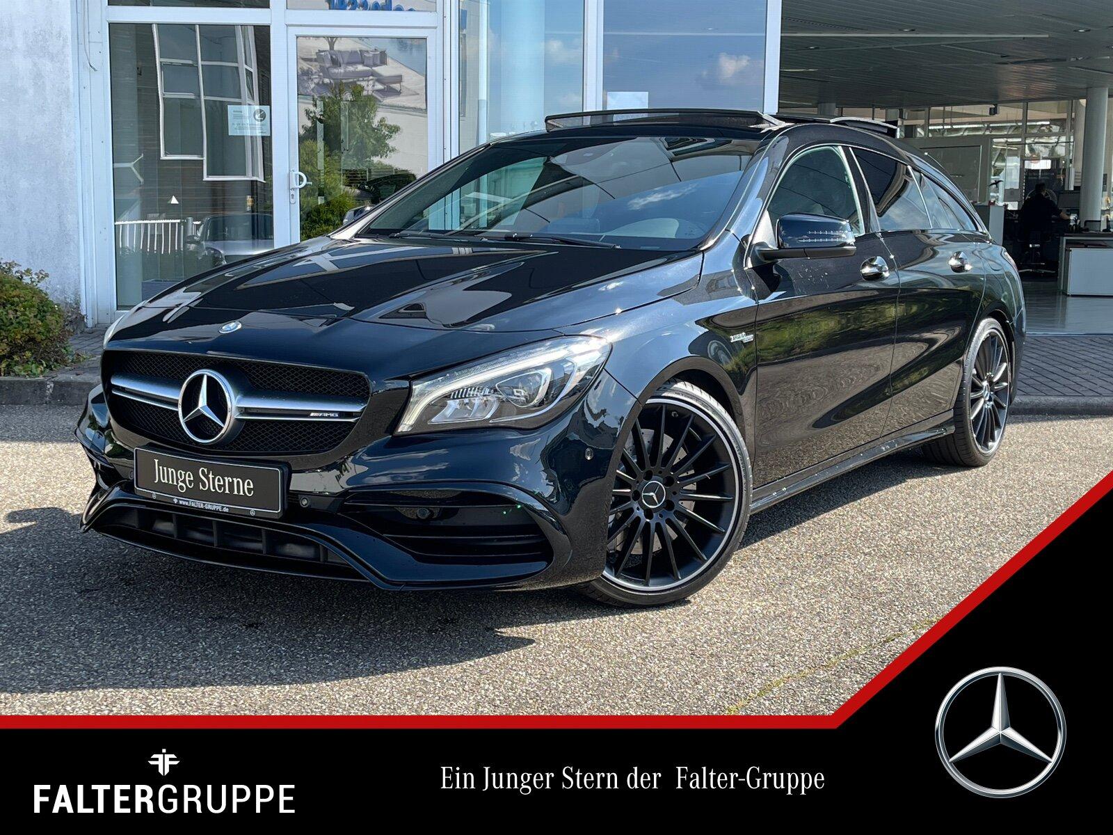 "Mercedes-Benz CLA 45 4M SB PANO+COMAND+NIGHT+EASYPACK+LED+19"", Jahr 2017, petrol"