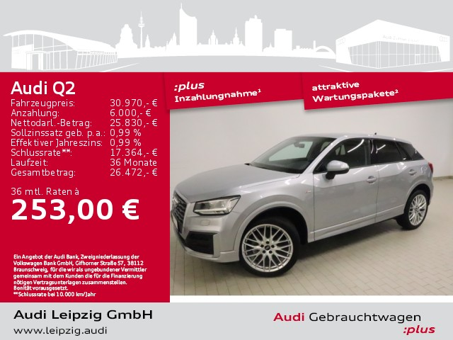 Audi Q2 35 TFSI design*S tronic*S line*LED-Paket*PDC*, Jahr 2020, Benzin