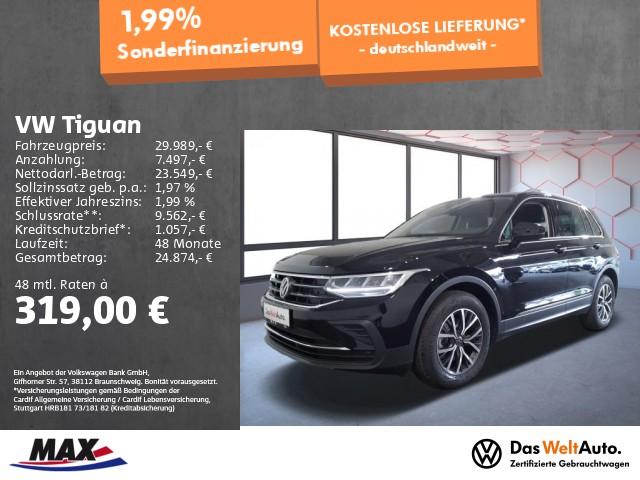 Volkswagen Tiguan 1.5 TSI LIFE >NEUES MODELL< LED+NAVI+ALU+, Jahr 2021, Benzin
