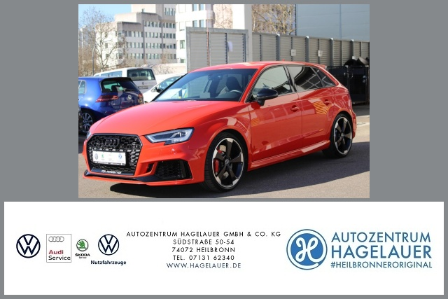 Audi RS3 Sportback 2.5TFSI quattro S-tronic Leder LED, Jahr 2017, Benzin