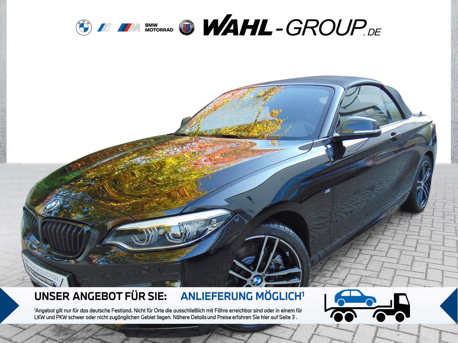 BMW 230i Cabrio M Sportpaket HK HiFi Leder LED RFK, Jahr 2020, Benzin