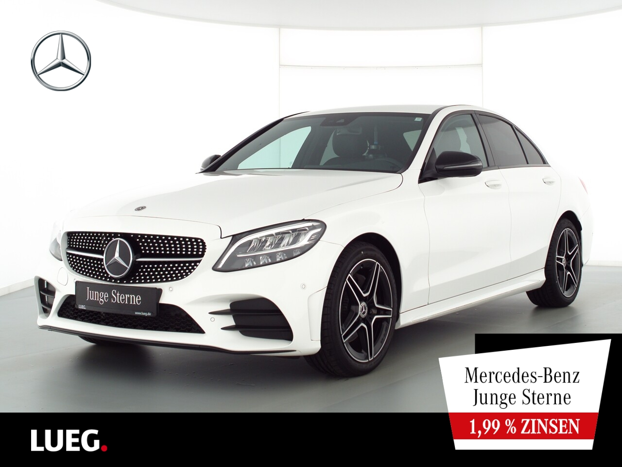 Mercedes-Benz C 180 AMG+Navi+LED-HP+Night+Displ+CarP+ParkA+RFK, Jahr 2019, Benzin