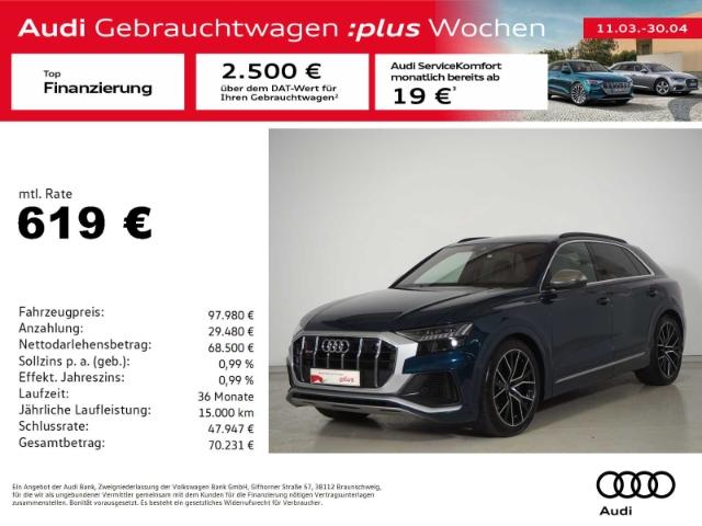 Audi SQ8 4.0 TDI V8 qu. Tip. AHK/Leder/P-Dach/Matrix, Jahr 2020, Diesel