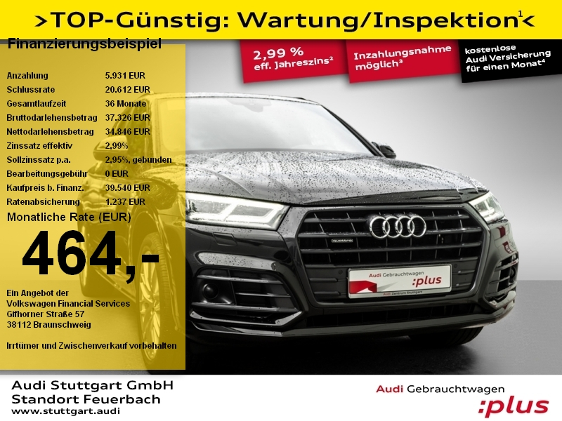 Audi Q5 sport 2.0 TDI quattro S line LED Pano ACC PDC, Jahr 2018, Diesel