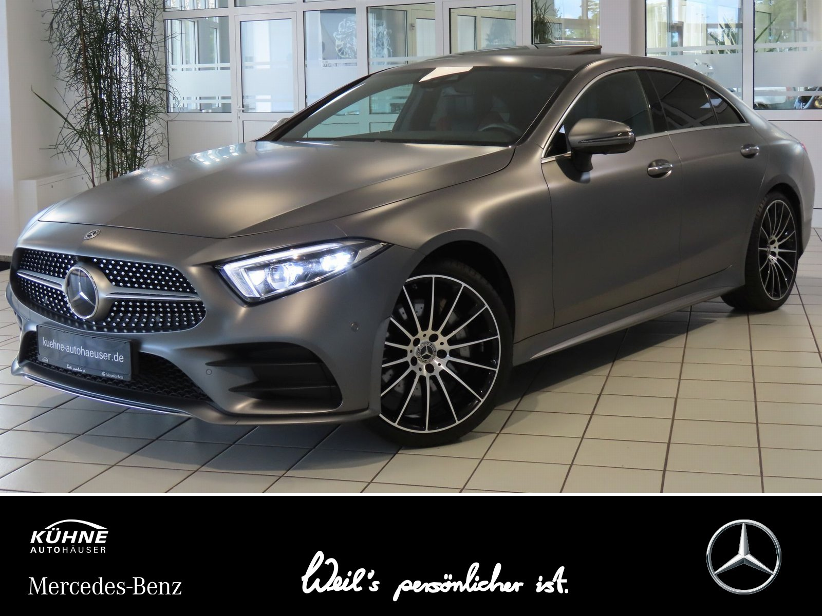 """Mercedes-Benz CLS 450 AMG 4M EQboost 20""""+TV+Memory+Multikontur, Jahr 2017, petrol"""
