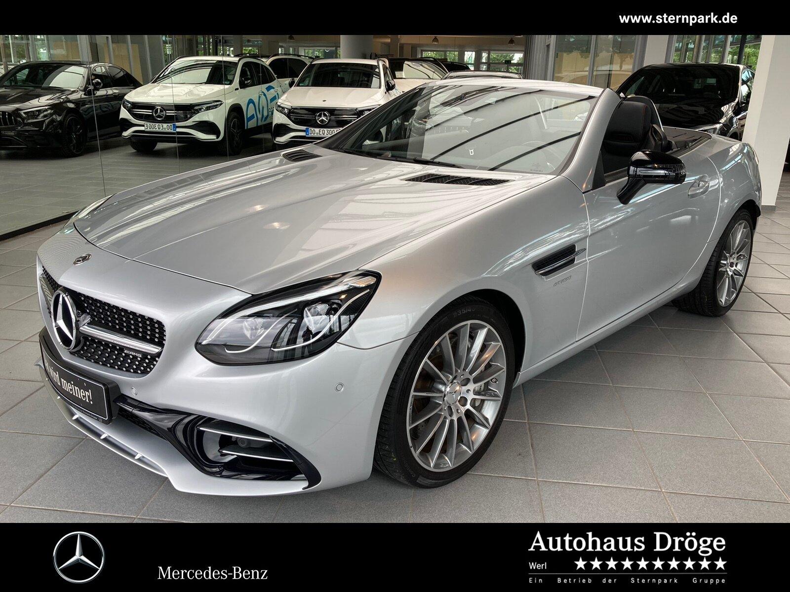 "Mercedes-Benz SLC 43 AMG Pano*Memory*H+K*LED*Navi*Airscarf*18"", Jahr 2017, petrol"