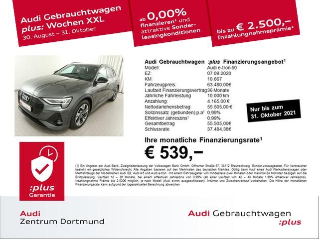 Audi e-tron 50 qu. 2xS line/Black/ACC/AHK/360°, Jahr 2020, Elektro