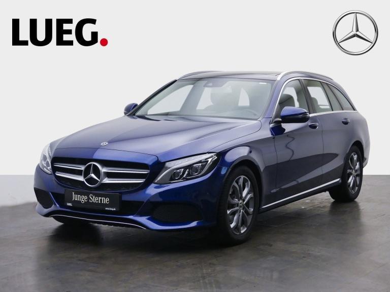 Mercedes-Benz C 180 T Avantgarde+Navi+Pano+LED-ILS+AHK+Totw+PT, Jahr 2018, Benzin
