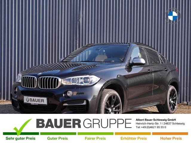 BMW X6 M50 d Leder LED Navi Keyless AD Kurvenlicht e-Sitze HUD Rückfahrkam. Allrad Fernlichtass., Jahr 2016, Diesel