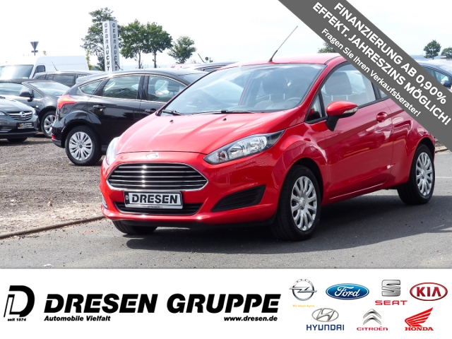 Ford Fiesta Trend 1.25 60 PS 3-türig/ Klimaanlage/ Radio CD/ Start-Stop, Jahr 2014, Benzin