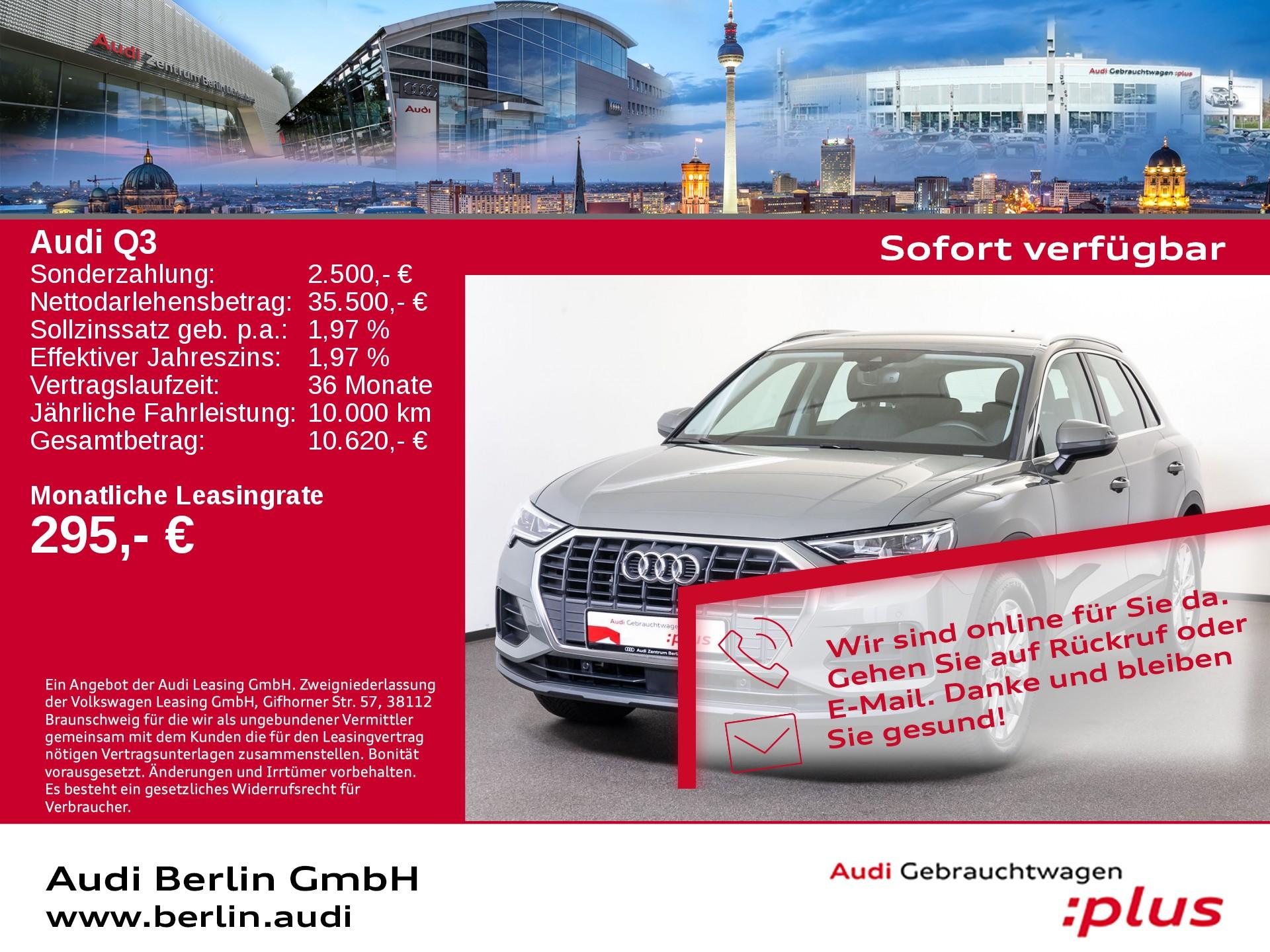 Audi Q3 35 TFSI S tronic LED NAVI VIRTUAL, Jahr 2020, Benzin