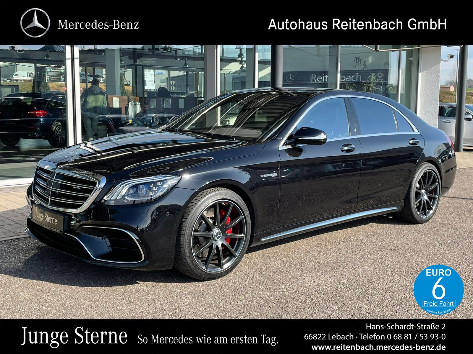 Mercedes-Benz S63AMG 4M+ LANG+MASSAGE+TV +DISTR+PANO+360°+BURM, Jahr 2017, Benzin