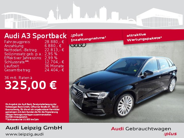 Audi A3 Sportback 1.4 TFSI e-tron sport *S-line*ACC*, Jahr 2018, Hybrid