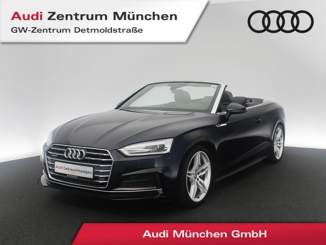 "Audi A5 Cabriolet 2.0 TFSI qu. S line HUD Navi Leder Kopfraumhz. PDCplus 19"" S tronic, Jahr 2017, petrol"