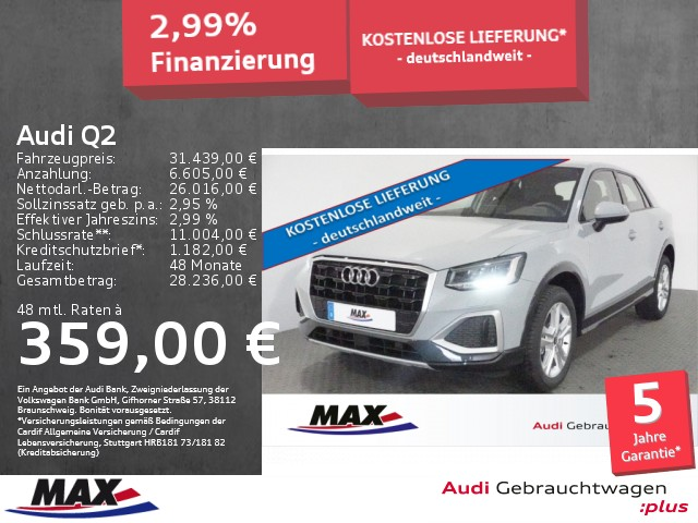 Audi Q2 35 TFSI advanced 5J GAR+LED+NAV+ALU+SHZ+KLIMA, Jahr 2021, Benzin