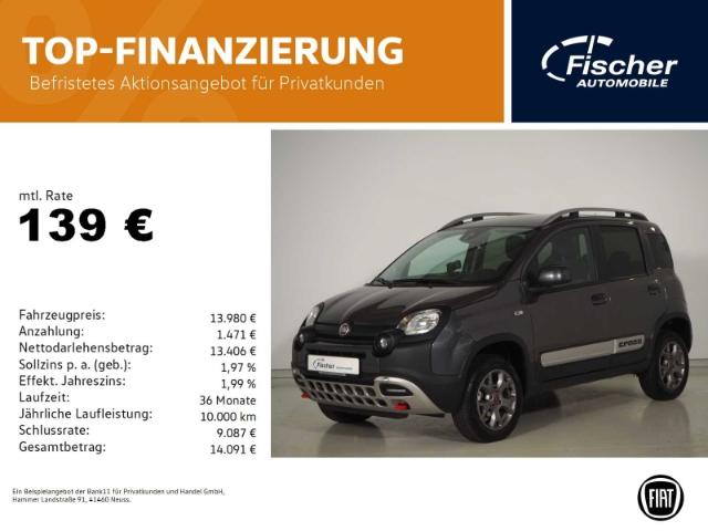Fiat Panda 0.9 8V CROSS PDC/DAB/6-Gg/Allrad, Jahr 2019, Benzin