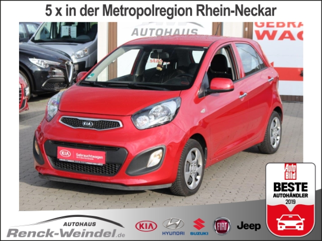 Kia Picanto FIFA World Cup Edition 1.0 SHZ Radio Klima Multif.Lenkrad CD AUX USB MP3 ESP, Jahr 2013, petrol