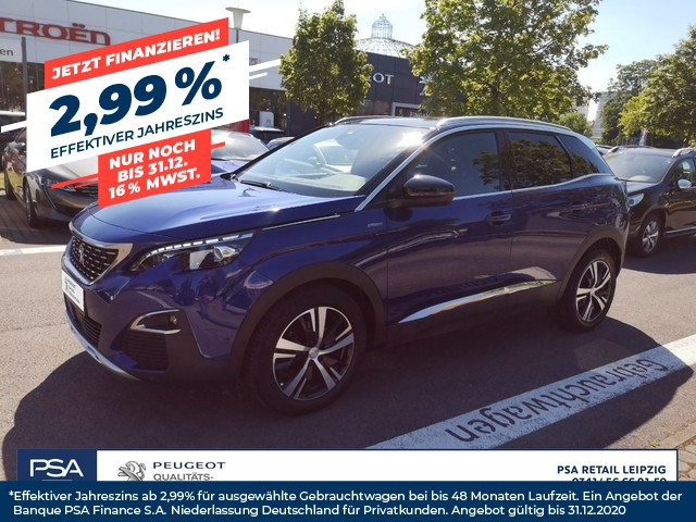 Peugeot 3008 THP 165 EAT6 Stop & Start GT-Line/ Navi/ el. Sitze/ SHZ, Jahr 2017, Benzin