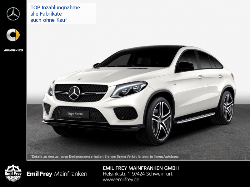 Mercedes-Benz GLE 43 AMG Cp+Night+COM+BeoHiFi+Distr+AHK+ActCurve, Jahr 2017, Benzin
