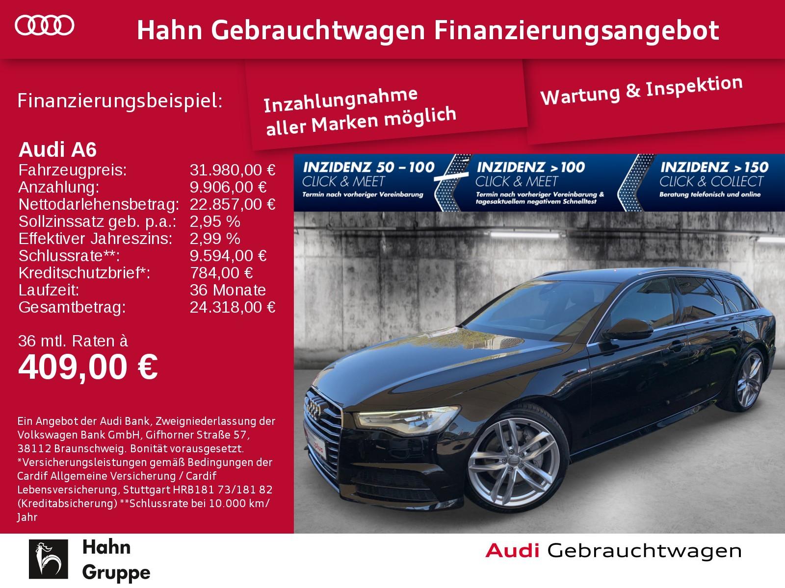 Audi A6 Avant 3.0 TDI qua. S-trc S-line Navi Xen CAM, Jahr 2017, Diesel