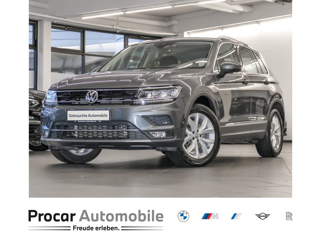 Volkswagen Tiguan 2.0 TSI Highline DSG LED AHK Navi Parkass., Jahr 2019, Benzin