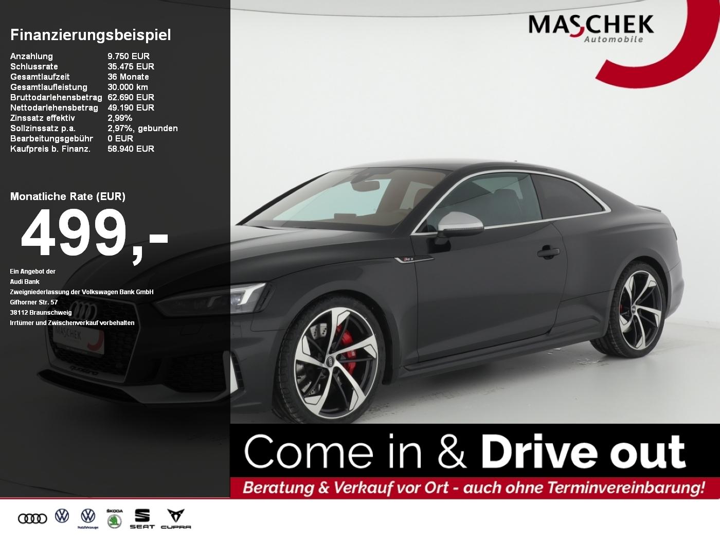 Audi RS5 Coupé 2.9 TFSI RS-AGA RS-Fwk+ B&O Naviplus, Jahr 2017, Benzin