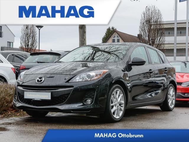 """Mazda 3 1.6 Lim. Schrägheck """"Edition"""" Klimaautomatik Sitz-/Frontscheibenheizung el. FH Radio/CD Park Pilot Tempomat ALU 7x17 Reifen 205/50/17, Jahr 2013, petrol"""