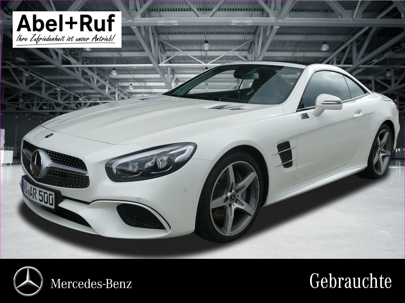 Mercedes-Benz SL 500 AMG+Airscarf+Sitzklima+ACTIVE BODY+142 T, Jahr 2018, petrol