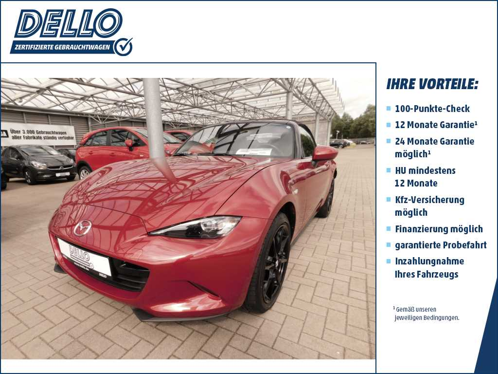 Mazda MX-5 2.0 Sports-Line Bose Recaro Billstein F., Jahr 2016, petrol