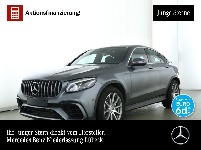 Mercedes-Benz GLC 63 AMG Cp. Perf-Abgas Burmester LED COMAND, Jahr 2019, petrol