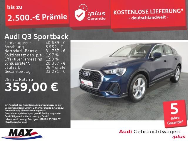 Audi Q3 Sportback 45 TFSI QUATTRO LED+AHK+VC+MMI NAVI, Jahr 2020, Benzin