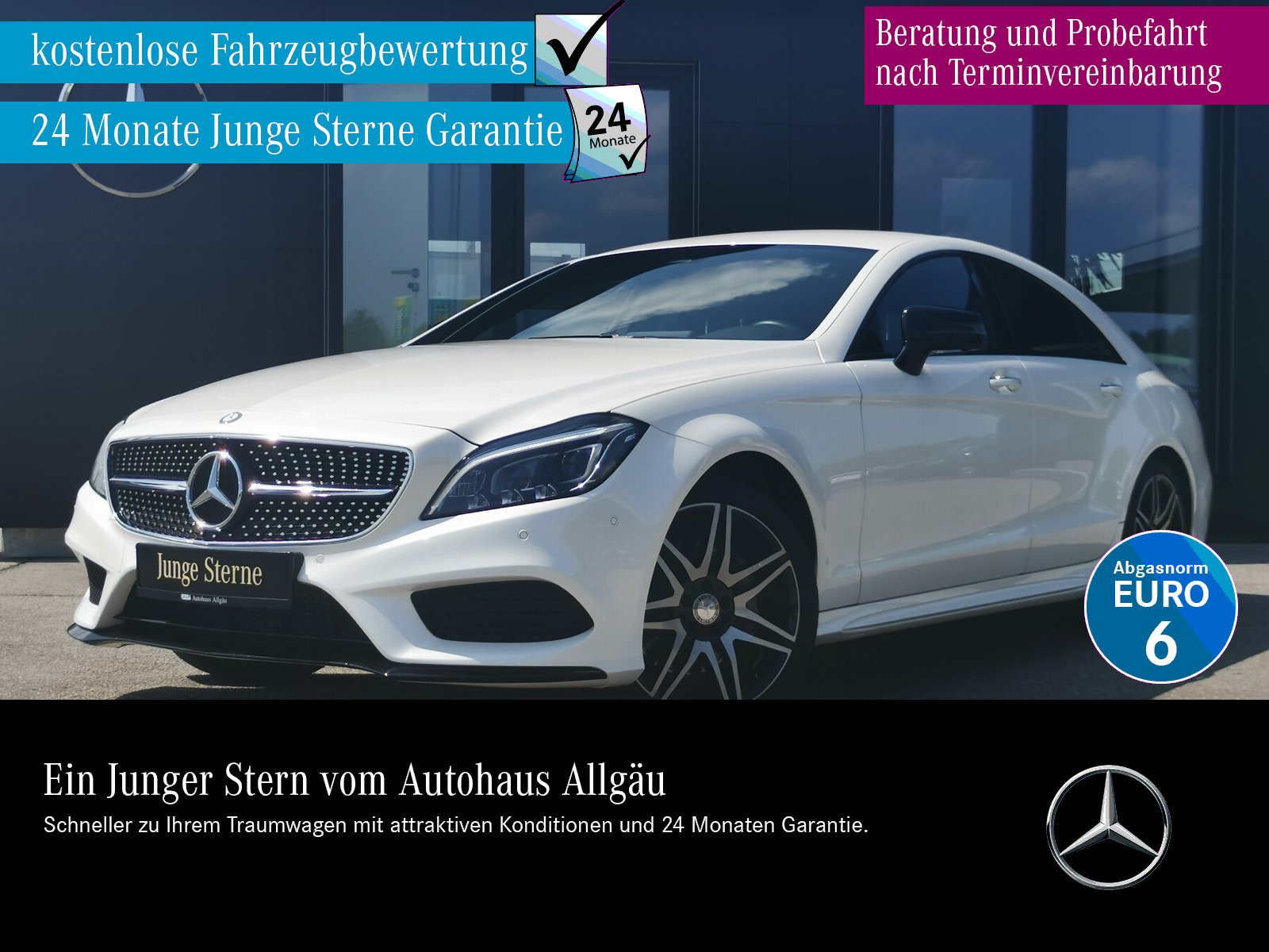 Mercedes-Benz CLS 350 d 4M AMG+NIGHT+MULTIBEAM+AIRM.+360°+COMA, Jahr 2015, Diesel