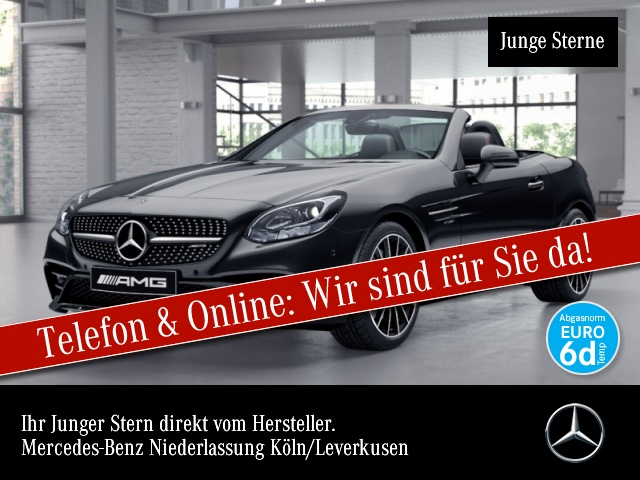 Mercedes-Benz SLC 43 AMG Pano Navi Airscarf Kamera Harman PTS, Jahr 2019, Benzin