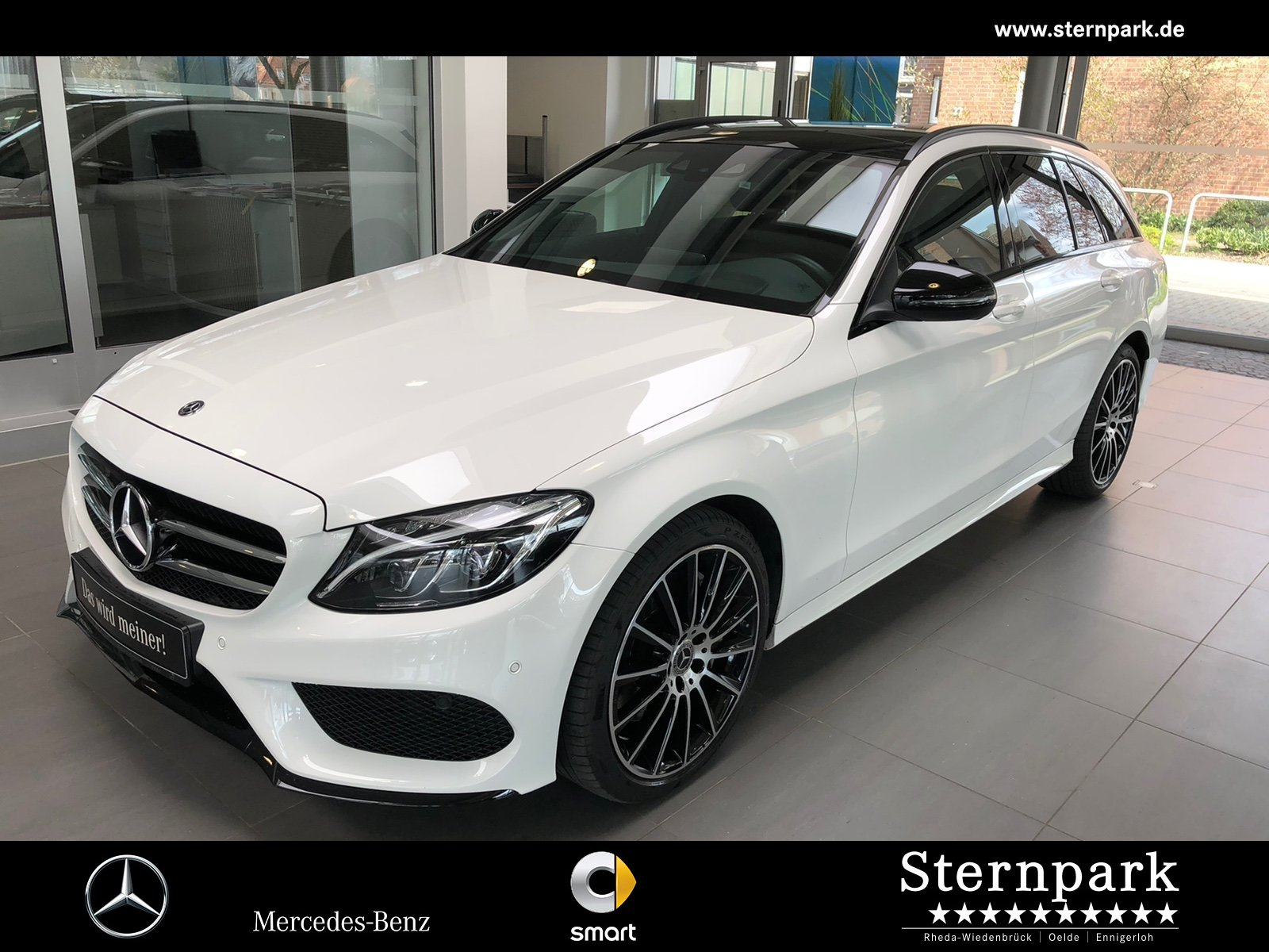 Mercedes-Benz C 400 4M T AMG Pano*HeadUp*Comand*AHK*MULTIBEAM, Jahr 2018, Benzin