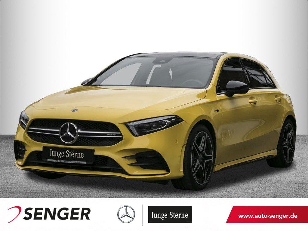 Mercedes-Benz A 35 AMG 4M *Pano*Display digital*360°*AHK*LED*, Jahr 2019, Benzin