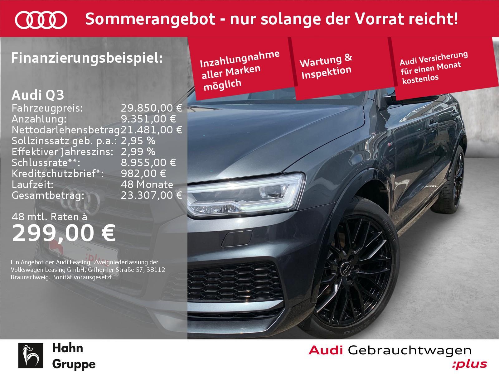 Audi Q3 2.0 TDI qua. S-trc S-line Navi LED Einpark, Jahr 2018, Diesel