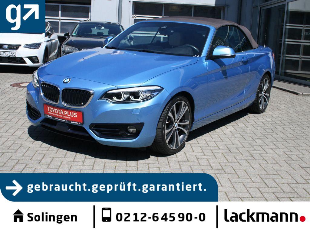 BMW 230i Cabrio Aut. Sport Line*M-Paket*Navi*, Jahr 2018, Benzin