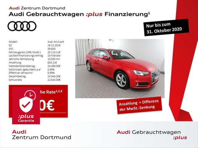 Audi A4 Avant sport 35TDI S-tronic/Navi+/Xenon/eKlappe, Jahr 2018, Diesel