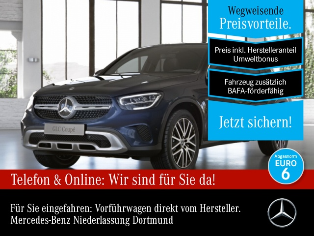 Mercedes-Benz GLC 300 de 4M Coupé AHK+LED+Kamera+Spur+Totw+9G, Jahr 2021, Hybrid_Diesel