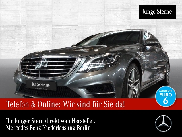 Mercedes-Benz S 400 L 4M AMG Fahrass 360° Stdhzg Pano Burmester, Jahr 2017, Benzin