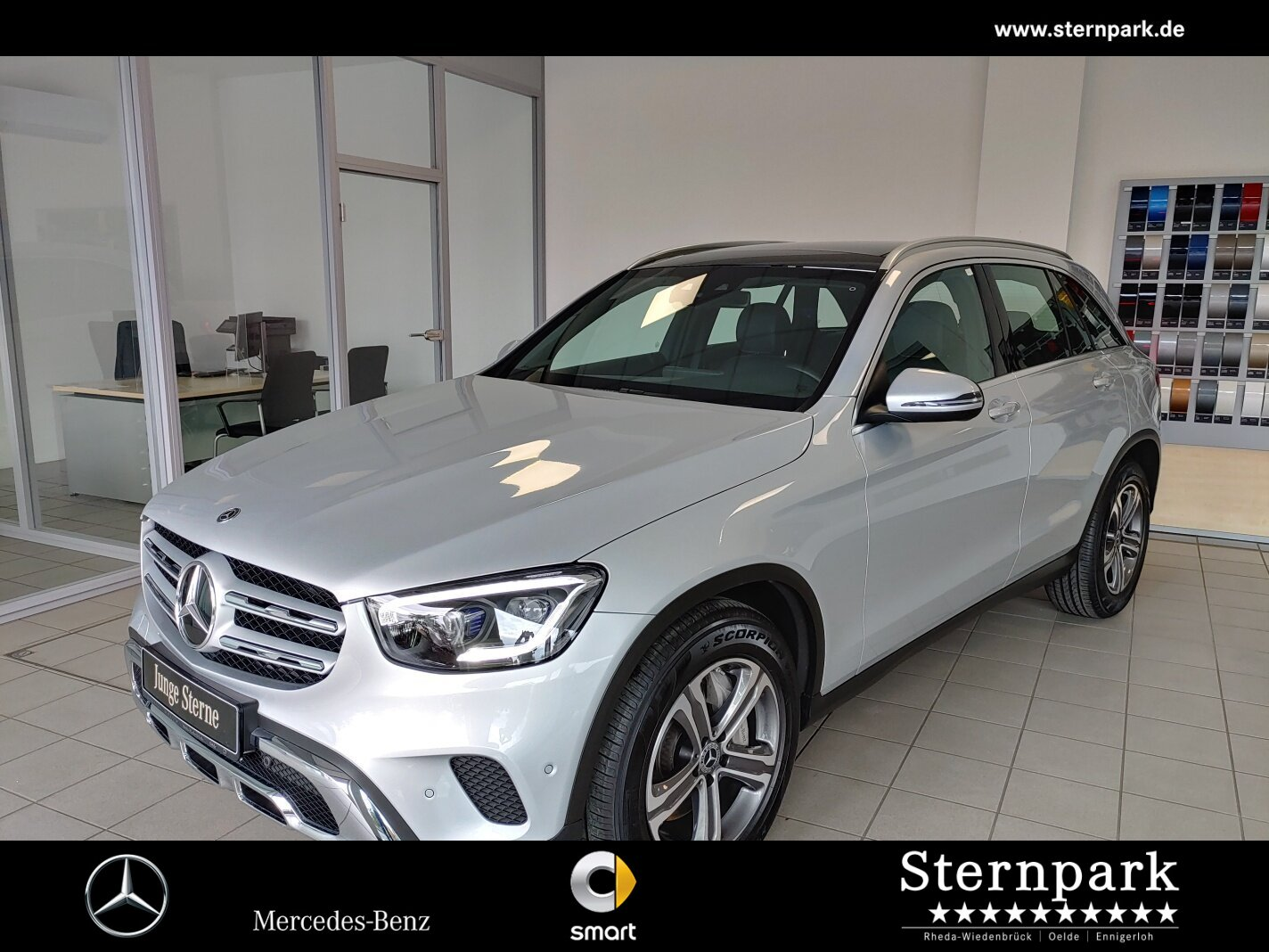 Mercedes-Benz GLC 400 d 4M R6-Zyl +AHK+Pano+Akustikglas+MultiB, Jahr 2020, Diesel