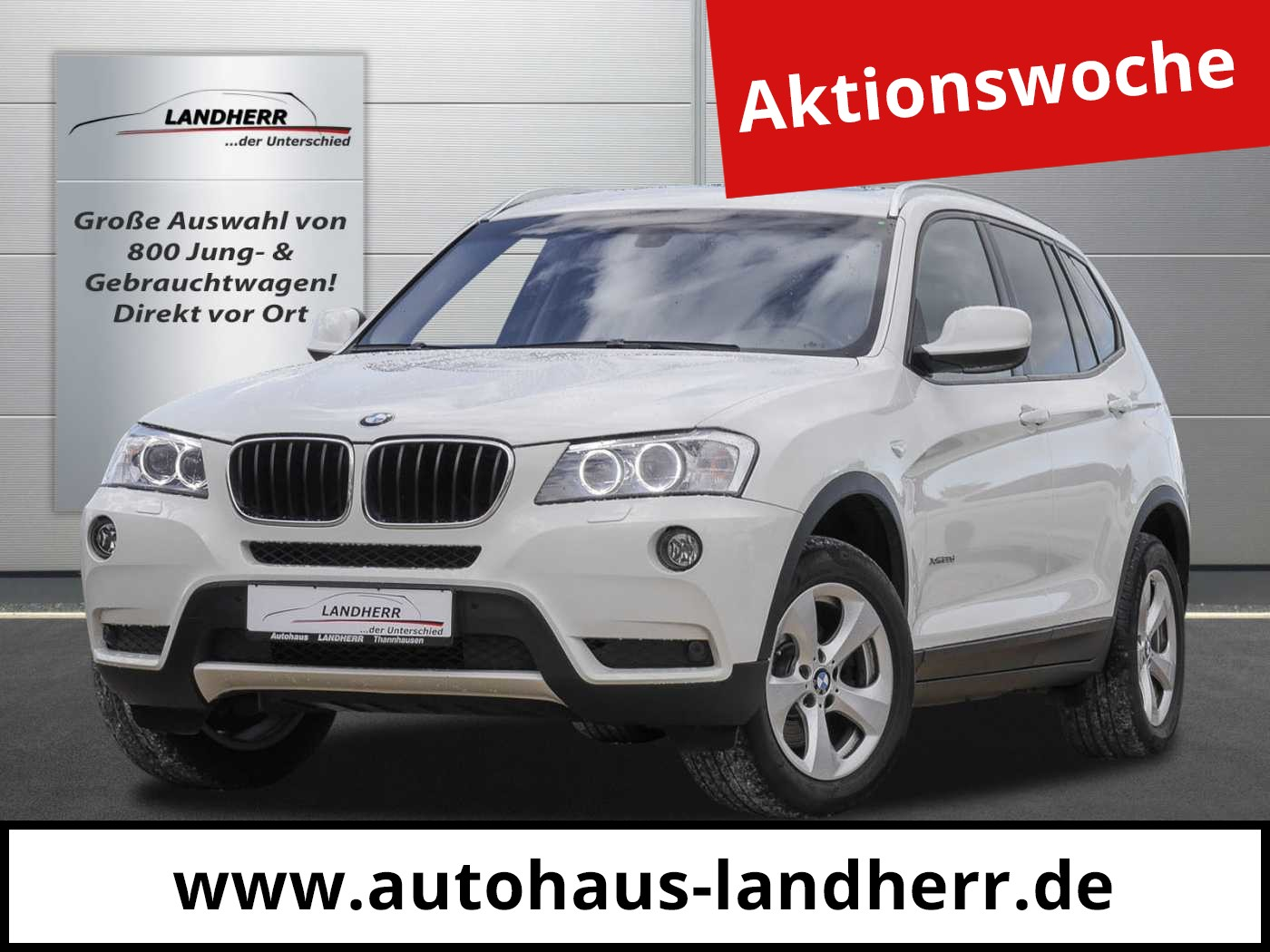 BMW X3 xDrive20d Aut. 1. Hand / Pano / AHK, Jahr 2013, Diesel