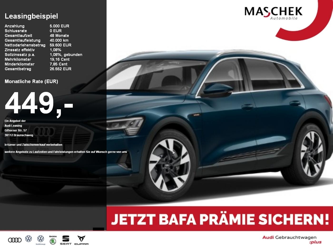 Audi e-tron 50 BAFA ACC DAB virtualcpt+ Alcantara, Jahr 2020, Elektro