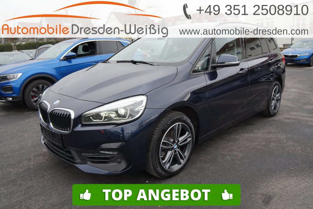 BMW 216 Gran Tourer i Sport Line*Navi*Pano*Kamera*, Jahr 2019, Benzin