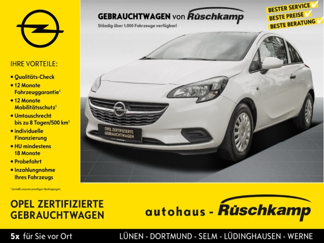 Opel Corsa E Selection 1.2 RDC Klima AUX ESP Seitenairb. ABS, Jahr 2016, Benzin
