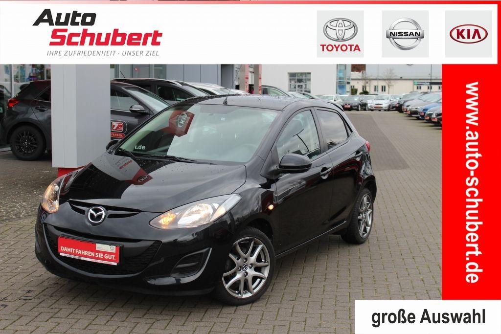 Mazda 2 1.3 MZR Iro +KLIMA+RADIO+ELEKTR.FENSTERHEBER++, Jahr 2014, petrol