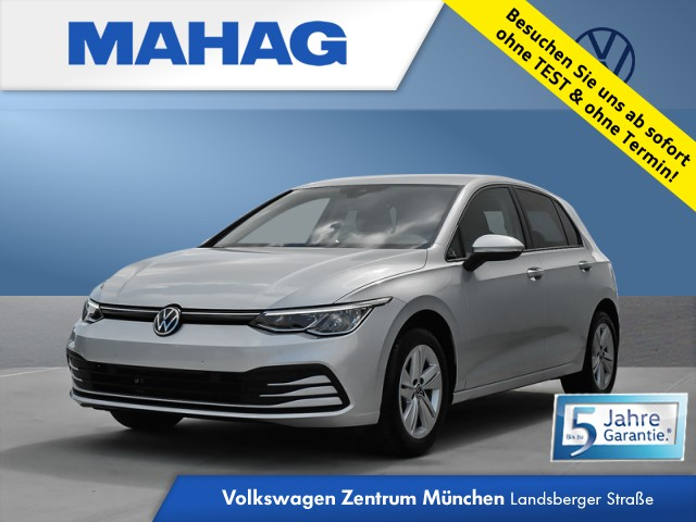 Volkswagen Golf VIII 1.5 TSI LIFE NaviPro LED DigitalCockpit AppConnect DAB+ ParkPilot LightAssist FrontAssist 16Zoll 6-Gang, Jahr 2020, Benzin